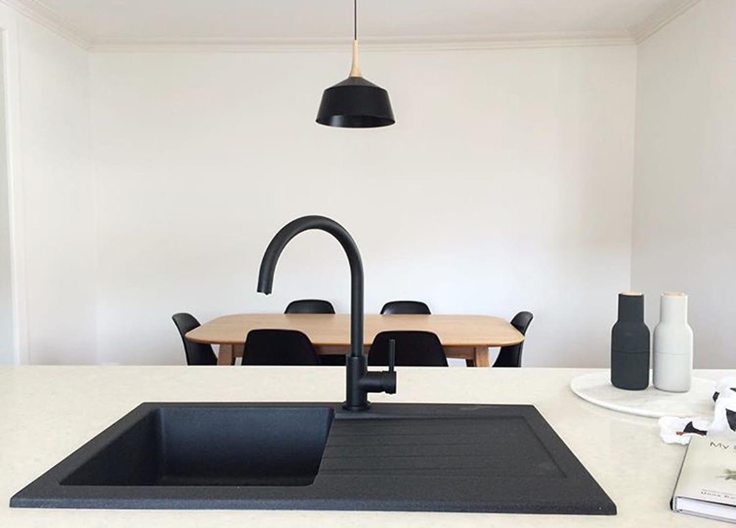 Zwarte Kit Keuken : Mat zwart meir keuken wastafelmengkraan