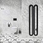 Instamat design radiator Tubone-V 2 elementen mat zwart - 150 x 44 cm