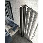 Instamat design radiator Tubone-V dubbel element mat zwart - 150 x 21 cm
