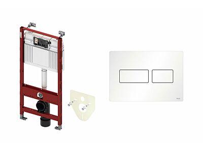 Tece inbouwreservoir met bedieningspaneel Solid mat wit