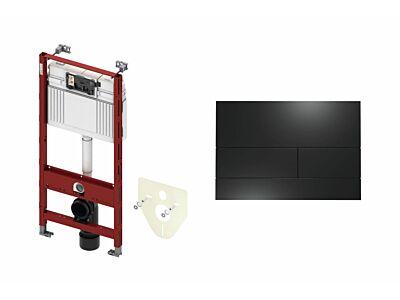 Tece inbouwreservoir met bedieningspaneel Square II mat zwart