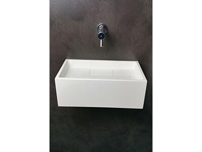 Mastello solid surface toiletfontein met geïntegreerd sifon - 35 cm