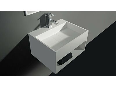 Ideavit Solid Surface wastafel Solidcube