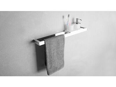 Ideavit Solid Surface handdoekrek Solidsteel