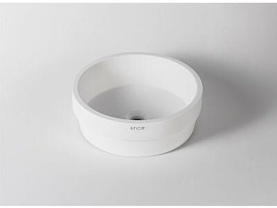 Krion Solid Surface waskom half opbouw Ø 40 cm