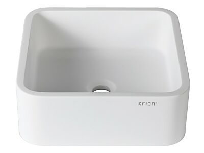 Krion solid surface waskom opbouw 40 x 40 cm