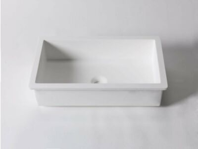 Krion Solid Surface wasbak onderbouw 48 x 28 cm
