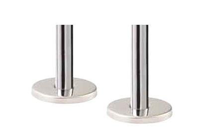 Minimalistische aansluit leiding met roset (chroom of geborsteld staal)