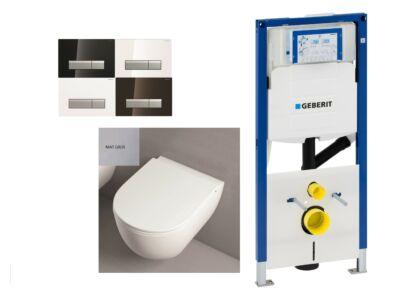 Azzurra mat grijze Toiletset met inbouwreservoir en geurafzuiging