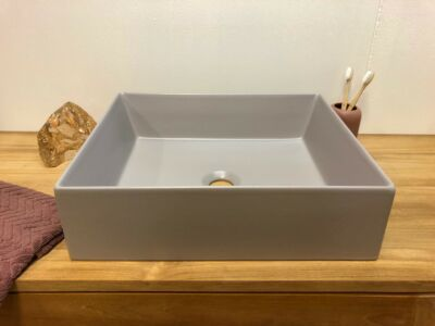 Elegance keramiek wasbak mat grijs - 45 x 38 cm