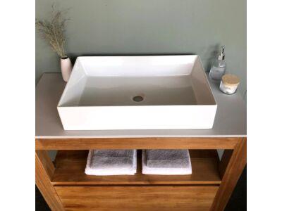 Elegance keramiek wasbak glans wit - 60 x 38 cm