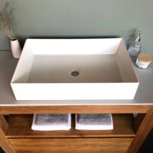 Elegance keramiek wasbak mat wit - 60 x 38 cm