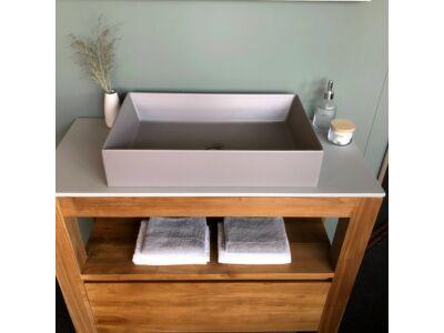 Elegance keramiek wasbak mat grijs - 60 x 38 cm