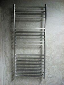 RVS geborsteld design radiator 35cm breed (6 verschillende hoogtes)