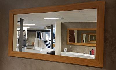 Teak spiegel rechthoek 60x50 cm