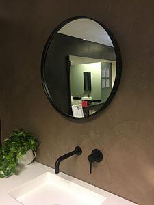 Spiegel rond mat zwart (8 maten)