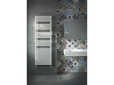 Instamat handdoekradiator met aansluitset Bologna mat wit - 152 x 60 cm