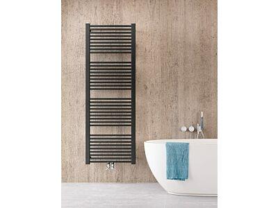 Instamat handdoekradiator met aansluitset Rim mat zwart - 74 x 60 cm