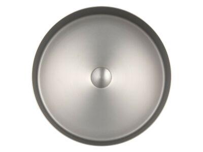 Djati RVS waskom Florence geborsteld nikkel - 40 cm