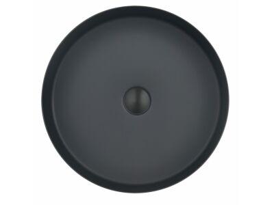 Djati RVS waskom Florence mat zwart - 40 cm