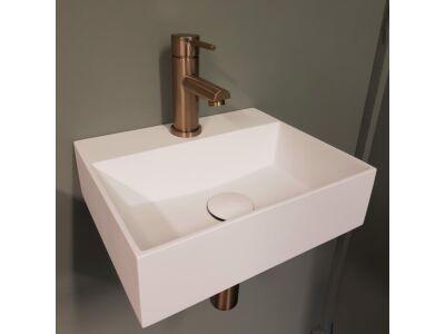 Djati solid surface toiletfontein Solid Cargo mat wit (0 kr.gt) - 36 cm