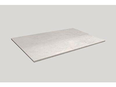 Djati solid surface afdekplaat Solid Copertura mat marmer - 32 cm