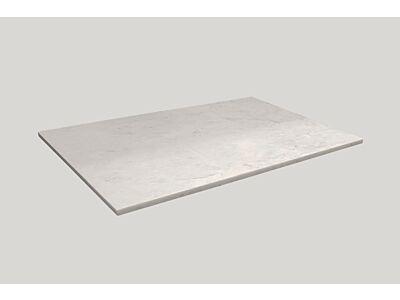 Djati solid surface afdekplaat Solid Copertura mat marmer - 70 cm