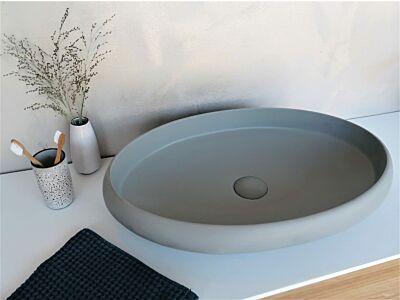 Djati solid surface waskom Solid Mystic beton look - 60 cm