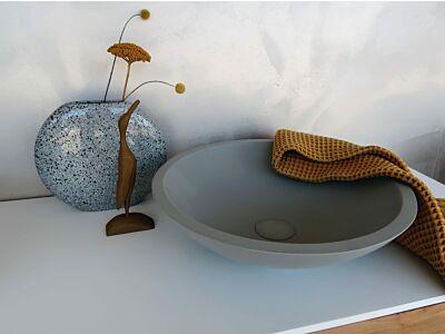 Djati solid surface waskom Solid Sfera beton look - 40 cm