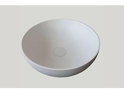 Djati solid surface waskom Solid Sottile mat wit - 25 cm