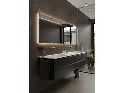 Blend rechthoekige spiegel Dublin met led en spiegelverwarming - 80 cm
