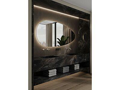 Blend asymmetrische spiegel Joling met led - 140 cm