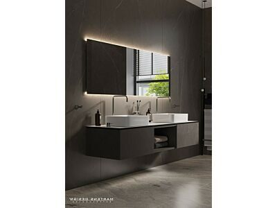 Blend rechthoekige spiegel London met led en spiegelverwarming - 140 cm
