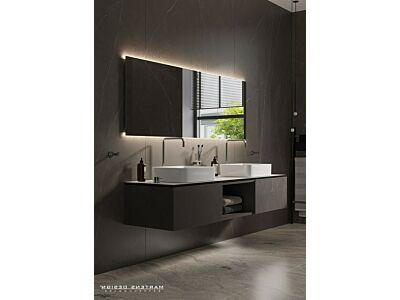 Blend rechthoekige spiegel London met led en spiegelverwarming - 160 cm
