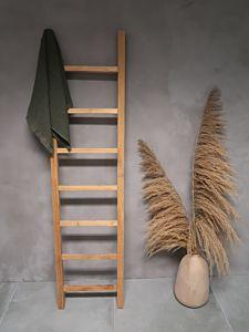 Djati teakhouten handdoekladder Kayu - 180 cm