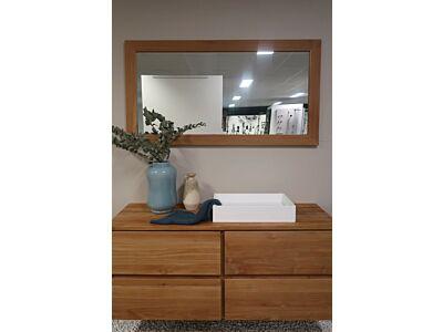 Djati teakhouten spiegel Es Cubells - 100 cm