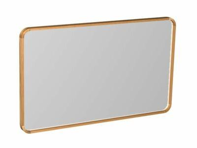 Djati teakhouten spiegel Indah ronde hoeken - 90 cm