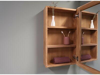 Djati teakhouten spiegelkast Cala Bassa (1 deur) - 60 cm