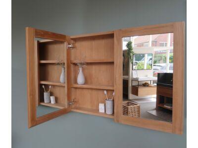 Djati teakhouten spiegelkast Cala Bassa (2 deuren) - 90 cm