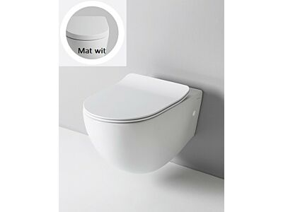 Artceram rimless toilet met soft-close zitting - mat wit